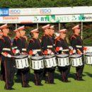 Drumfanfare Laurentius traint voor WMC